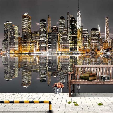 3d Mural Wallpaper City Evening Landscape Background Wa restaurant cafe clubs ktv bar 3d photo wallpaper beautiful