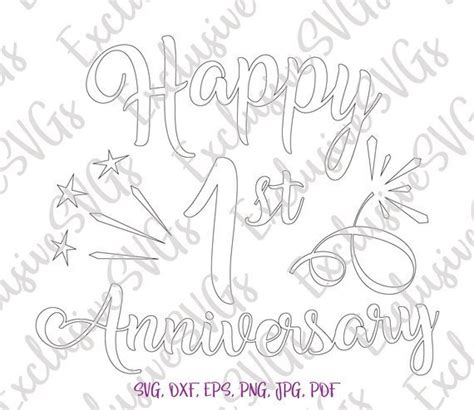 happy st anniversary svg cotton paper wedding