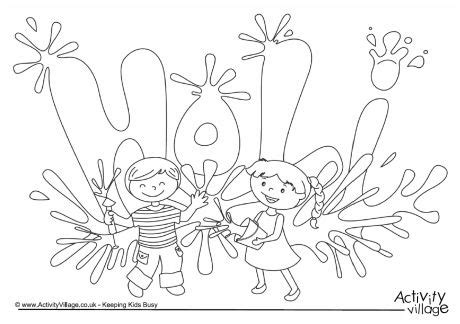 10 Holi Crafts And Activities For Kids My Little Moppet Holi Colouring Pages