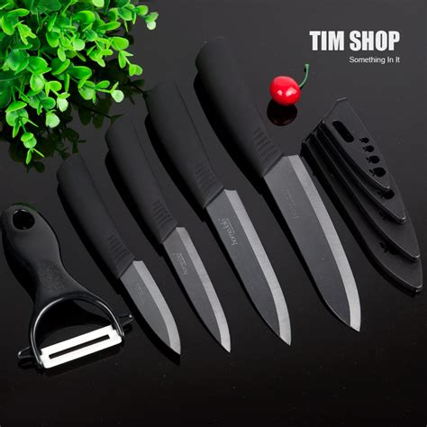 top quality kitchen knives top quality black blade 3 4 5 6 inch ceramic knife set