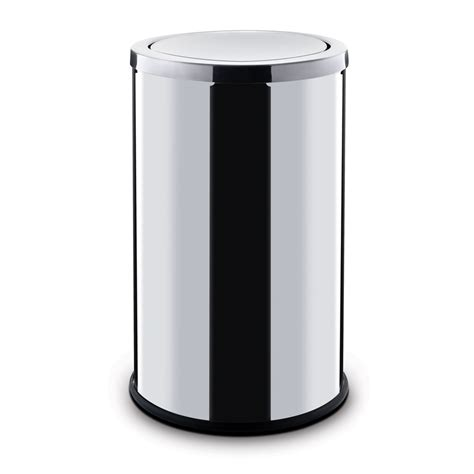 swing trash can swing trash can with tilt lid 18l 183 poubelledirect