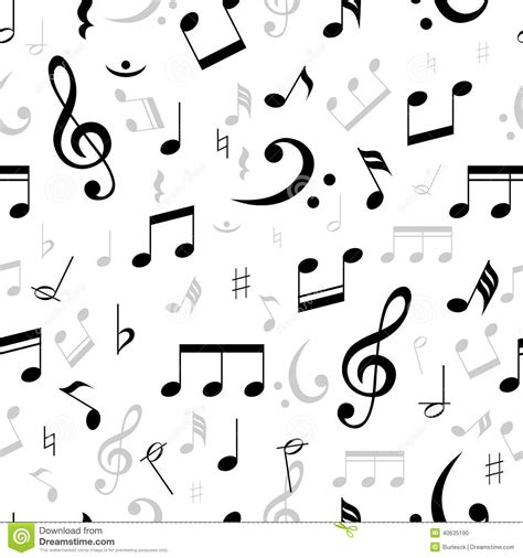 vector pattern with music notes music notes seamless pattern stock vector image 40635190