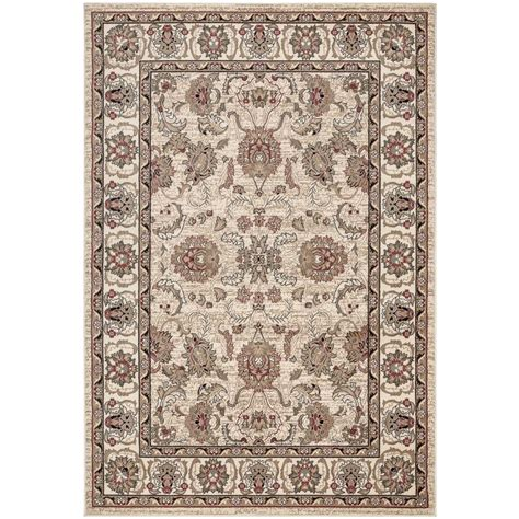 Home Depot Area Rugs 4x6 Ottomanson Traditional All Pattern Beige 3 Ft 11 In X 5 Ft 3 In Area Rug