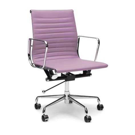 Lilac Office Chair by Lilac Back Ribbed Style Office Chair Cult Uk