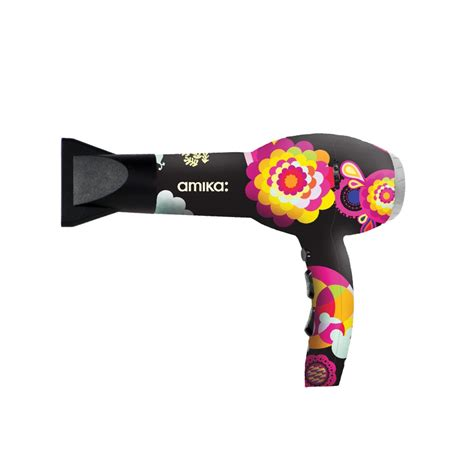 Amika Hair Dryer amika power cloud dryer in black obliphica print