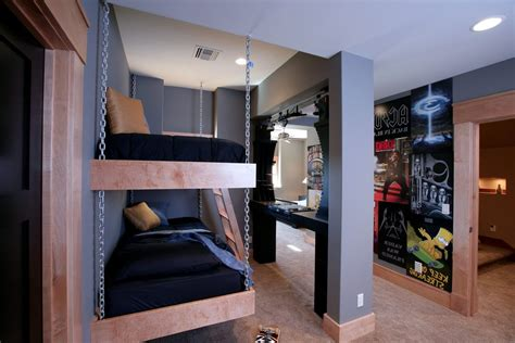 Bedrooms Cool Modern Kid Bunk - boy bunk beds contemporary with tray ceiling