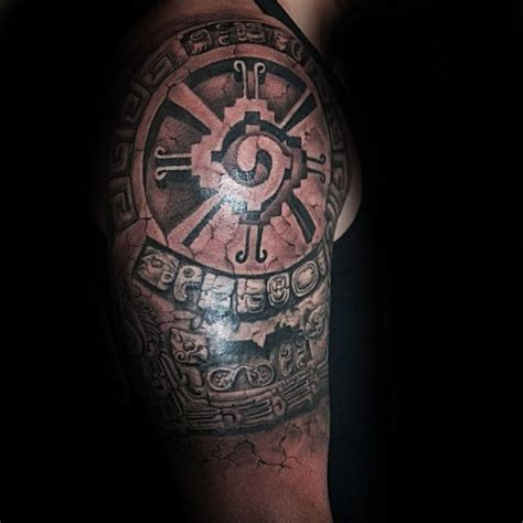 mayan tribal tattoos sleeves 80 mayan tattoos for masculine design ideas
