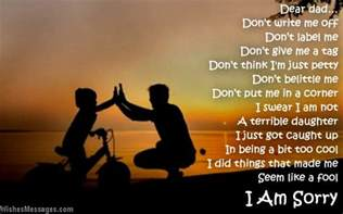 i am sorry poems for dad wishesmessages com