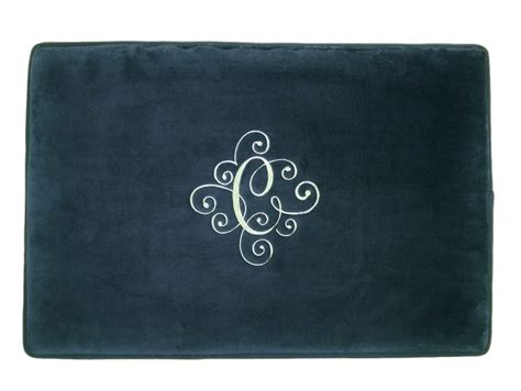 Monogrammed Bathroom Rugs Personalized Mat Bath Rug Bathroom Monogrammed Wedding Gift