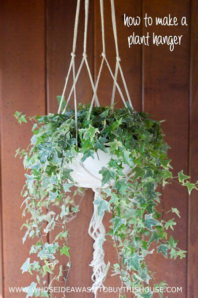 How To Make A Plant Hanger With Rope - how to make a simple diy plant hanger out of jute rope
