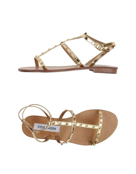 gold sandals steve madden steve madden sandals in gold lyst