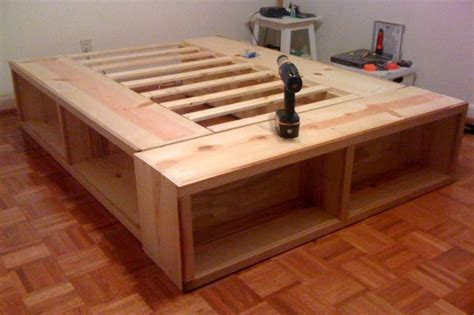 Diy Bed Platform Diy Platform Bed With Storage Modern Storage Bed Design Diy Platform Bed With Storage Plan