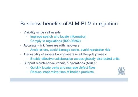 putting soul into business how the benefit corporation is transforming american business for books the benefits of alm and plm integration