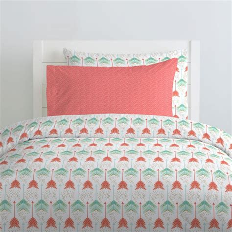 coral bedding coral and teal arrow kids bedding carousel designs