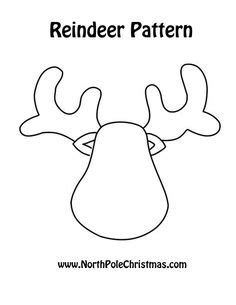 printable reindeer antlers pattern free printable christmas ornament templates felt sew