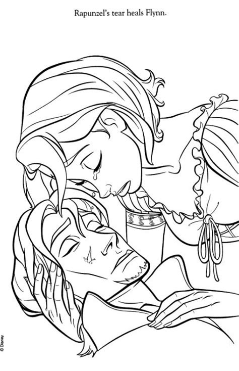 Rapunzel And Eugene Drawing Drawing Pinterest Rapunzel And Flynn Coloring Pages