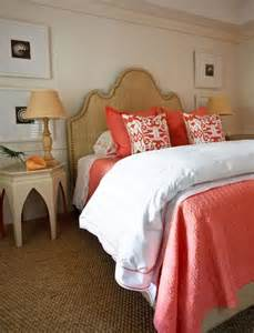 coral headboard transitional bedroom jws interiors