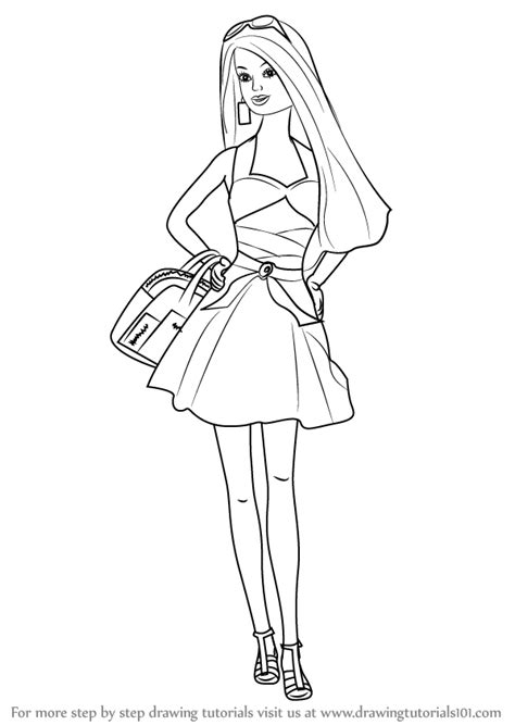 fashion doll outline doll drawings images