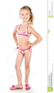 Cute smiling little girl in swimsuit stock photo image 41678090