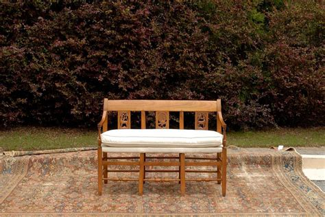 wooden bench seat for sale french mid 19th century wooden bench with carved back and