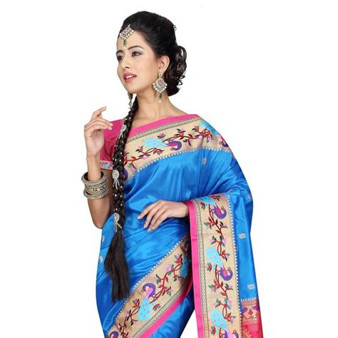 Buy BLUE Traditional Paithani Sarees Online