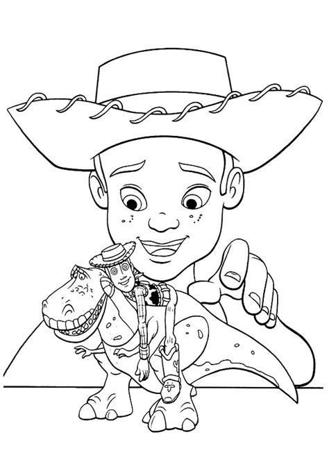 toystory rex colouring pages