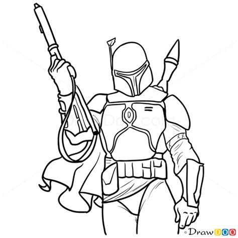 boba fett character sketch search boba fett how to draw boba fett wars