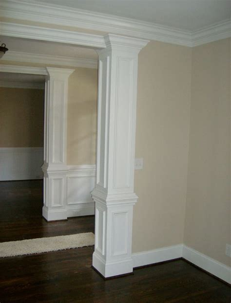 interior home columns square wood columns interior home who we are remodeling