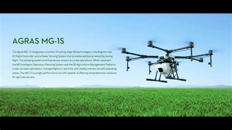 Dji Mg 1s dji agras mg 1s agricultural drone