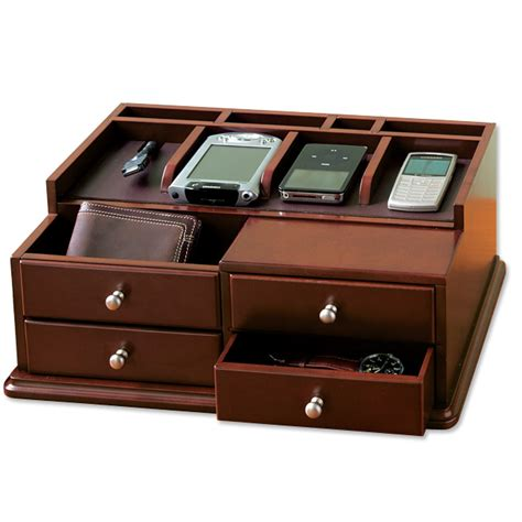 Charging Station Organizer | handheld electronics organizer drawers desktop charging station orvis