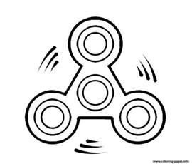 fidget spinner move coloring pages printable