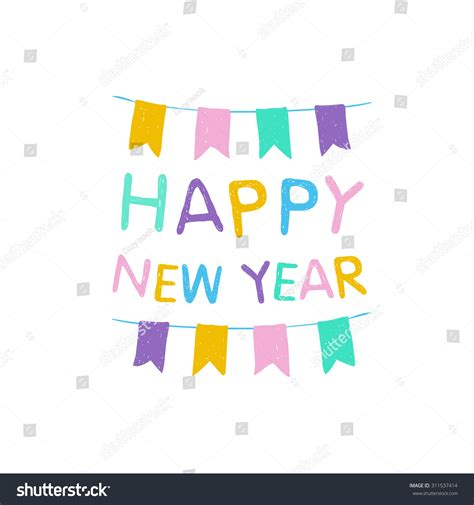 congratulation vector card happy new year 311537414