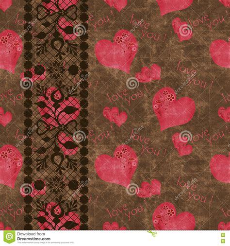 heart vintage pattern floral seamless pattern cute flowers heart vintage