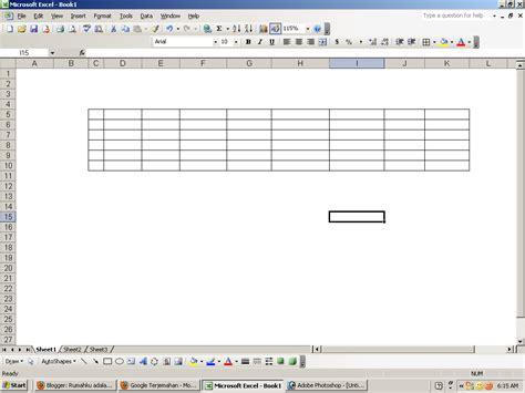 cara membuat tabel border html cara membuat garis border tabel pada ms excel silabus