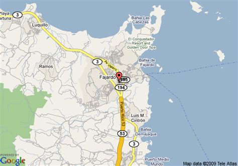 fajardo resort map fajardo map map