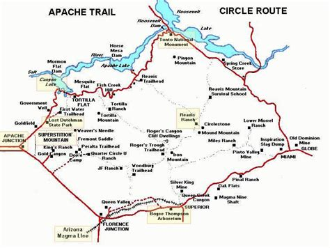 apache trail map the apache trail and superstition mountain part 3 my