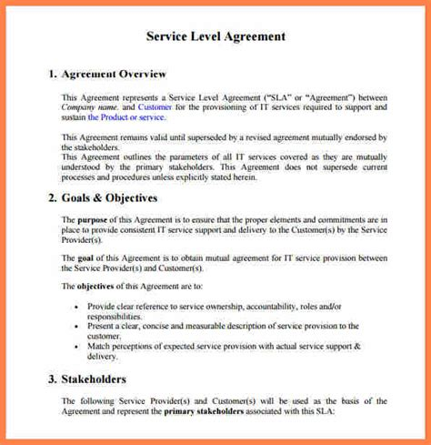 service level agreement template   support purchase agreement group