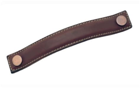 Kitchen Handles With Leather Bow Handle 187 Mm With Steel Insert Leather Cabinet