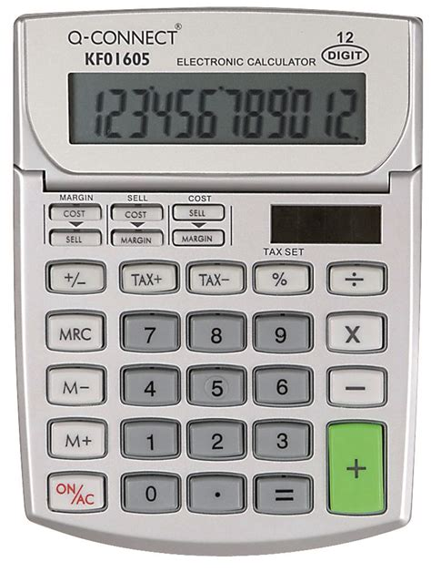 Ronbon Rb2618 Ii Kalkulator 12 Digit calculator desktop q connect 12 digit 102x140mm grey