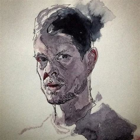 Portraits And Sketches by Water Colour And Ink Self Portrait Sketch Of Karl