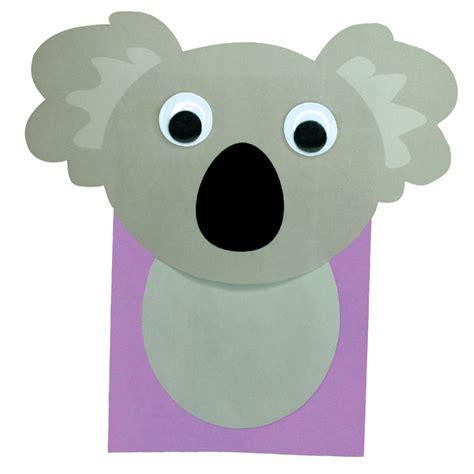 koala paper bag puppet cleverpatch
