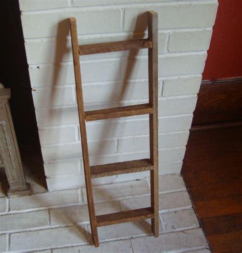Decorative Ladders by Rustic 4 Rung Primitive Barn Lath Wood Decorative Ladder