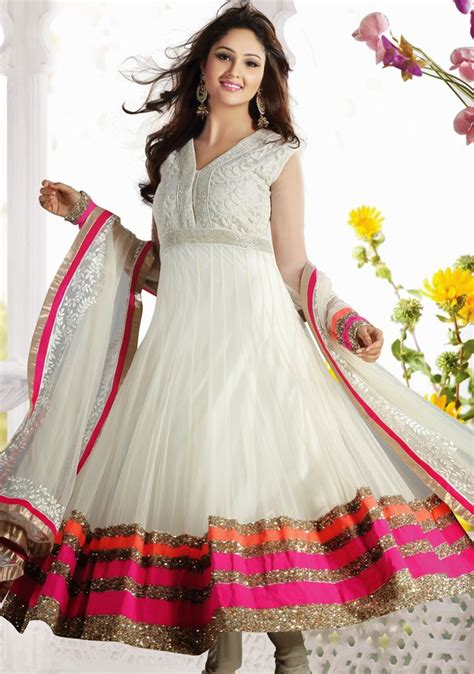 dress design in white colour latest pakistani party wear frocks for girls designer