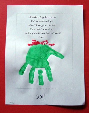 187 everlasting mistletoe parent print gift nuttin but preschool