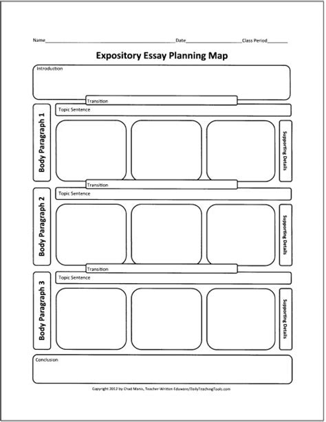 Expository Essay Maps by Free Graphic Organizers For Teaching Writing