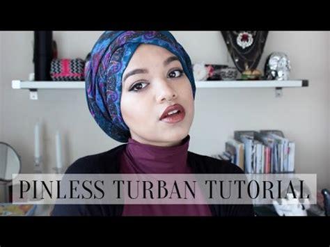 tutorial hijab pashmina crinkle pinless turban tutorial youtube