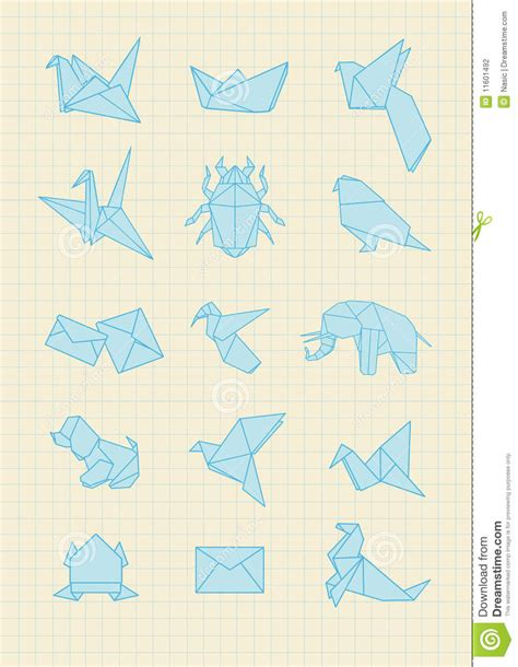 Origami With Notebook Paper - origami stock photography image 11601492