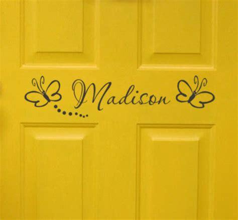 Personalised Bedroom Door Names Bedroom Door Monogram With Butterflies Personalized Name