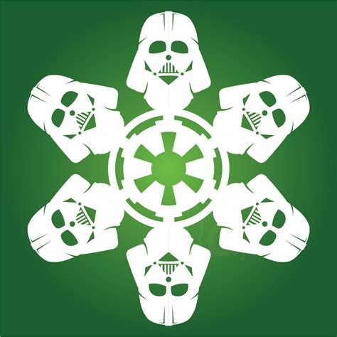 deck the holiday s diy star wars snowflakes without