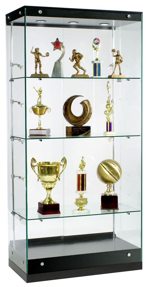 awards display glass cabinet with adjustable side